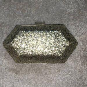 Handbags - Gold Glitter Evening Clutch